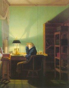 Kersting Man Reading by Lamplight